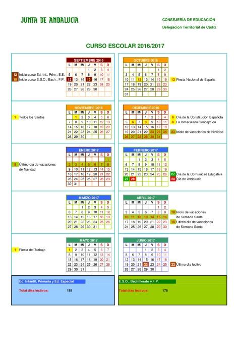calendario-escolares-2016-2017-cadiz